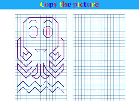 Copy the graphic picture. Worksheet for kids.