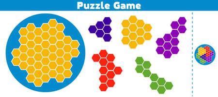 Rompecabezas. Completa el patrón. Juego de lógica educativa para niños en edad preescolar.