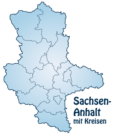 lasting: Map of Saxony-Anhalt with borders in blue