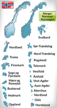 fredrikstad: Map of Norway with borders in blue