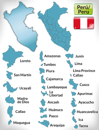 lima province: Map of Peru with borders in blue