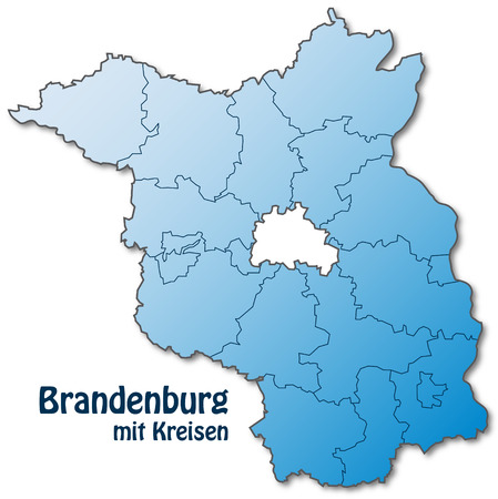 falkensee: Map of Brandenburg with borders in blue