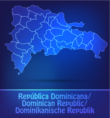 Map of Dominican Republic with borders as scrible Vector