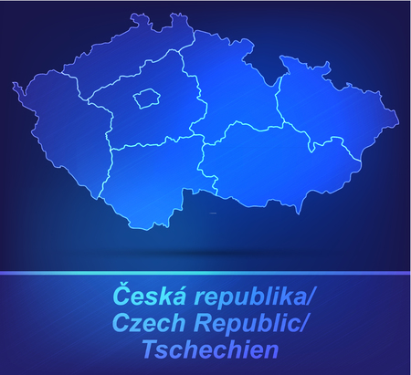 budweis: Map of Czech Republic with borders as scrible