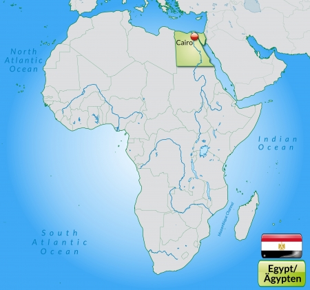 Map Of Egypt With Main Cities In Pastel Green Royalty Free Cliparts ...