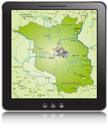 falkensee: Map of Brandenburg