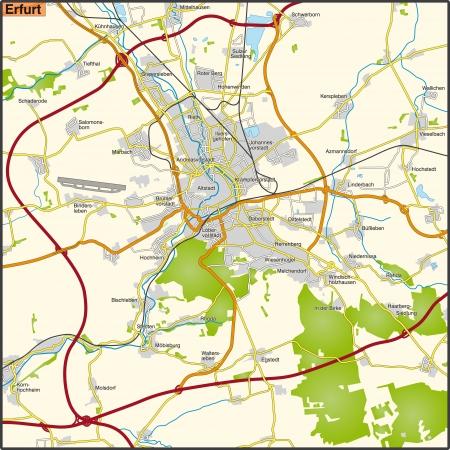 erfurt: Map of Erfurt     Illustration