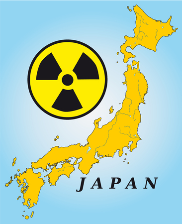 kobe: Map of Japan in yellow