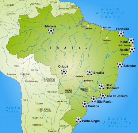 belem: Map of Brazil in green