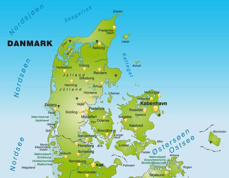 Dänemark Nordsee Karte.Karte Von Dänemark Mit Rahmen In Grau Lizenzfrei Nutzbare