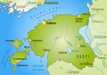 overview: Map of Estonia as an overview map in green