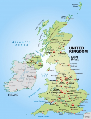 liverpool: Map of England as an overview map in pastel green