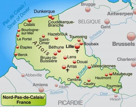 Vector Map Of NordPasdeCalais France Region France Vector