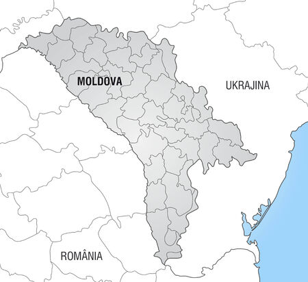 bender: Map of moldavia with borders in gray