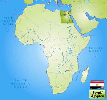 Map Of Egypt With Main Cities In Green Royalty Free Cliparts ...