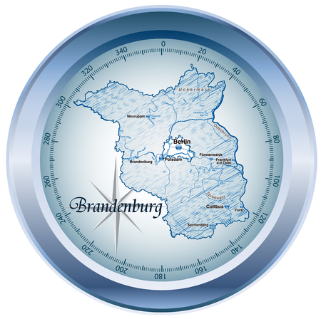 falkensee: Map of Brandenburg as an overview map in blue