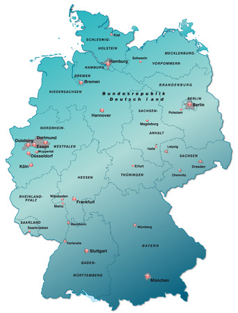 cartographer: Map of Germany as an overview map in blue