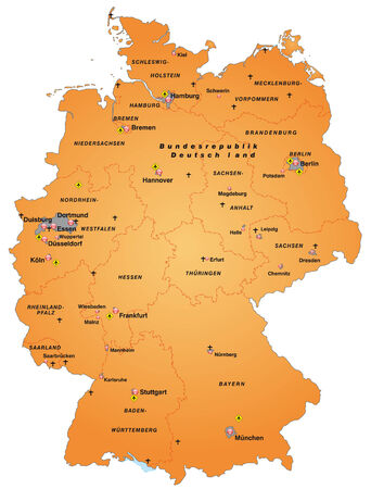 overview: Map of Germany as an overview map