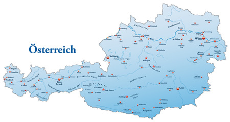 cartographer: Map of Austria as an overview map in blue