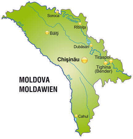 bender: Map of moldavia as an overview map in green