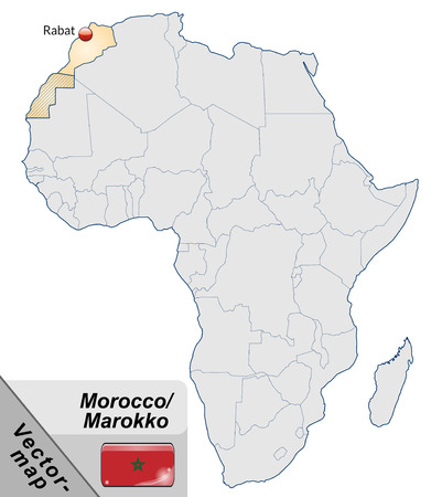 cartographer: Map of Morocco with main cities in pastel orange