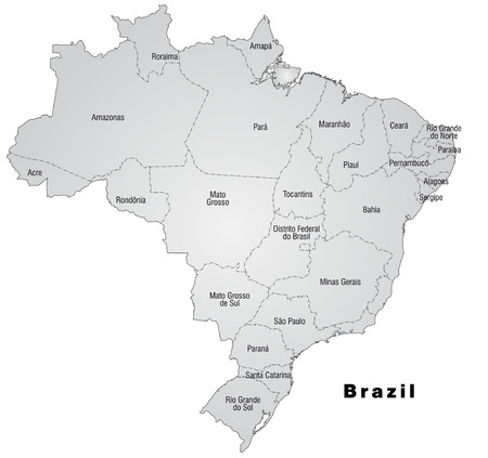 belem: Map of Brazil with borders in gray