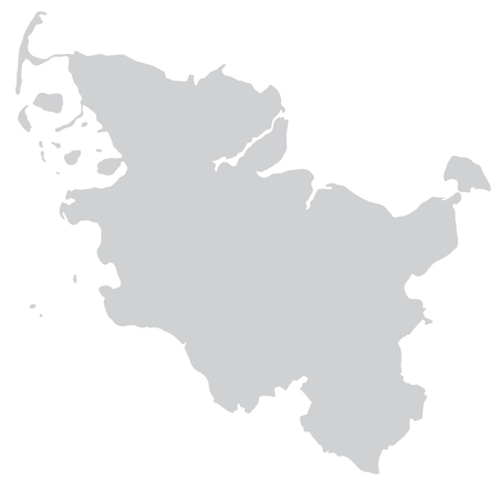 holstein: Map of Schleswig-Holstein with borders in gray