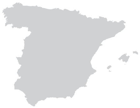 bilbao: Map of Spain with borders in gray Illustration