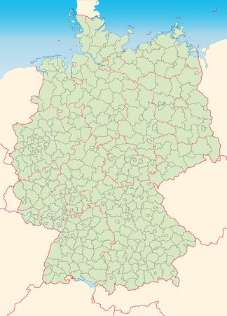 Karte von Deutschland mit Rahmen in grün Standard-Bild - 25148590