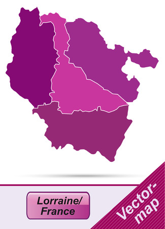Map of lorraine with borders in violet