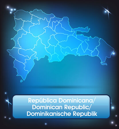 Map of Dominican Republic with borders with bright colors Vector