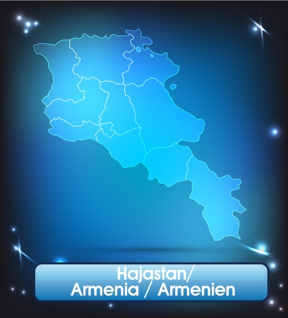 map of armenia: Map of Armenia with borders with bright colors Illustration