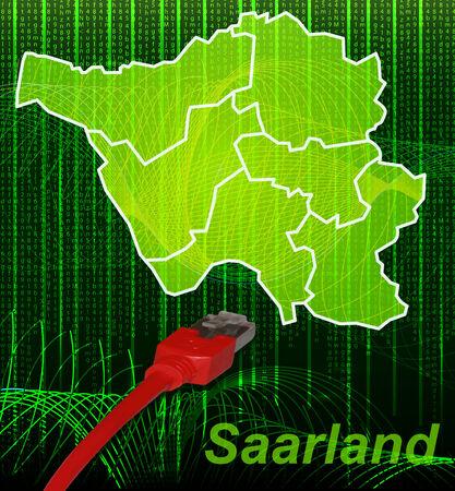 saarlouis: Map of Saarland with borders in network design