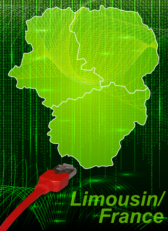 limousin: Map of limousin with borders in network design