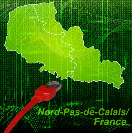 lille: Map of North-pas-de-calais with borders in network design