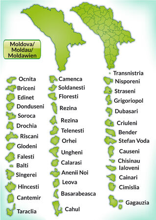 bender: Map of moldavia with borders in green