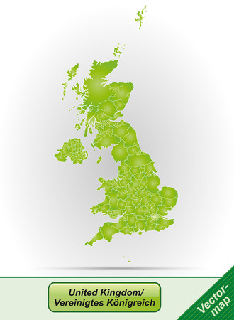 bristol: Map of England with borders in green