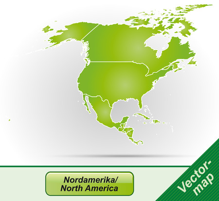 kingston: Map of North America with borders in green