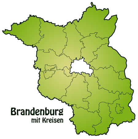 falkensee: Map of Brandenburg with borders in green