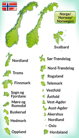 fredrikstad: Map of Norway with borders in green