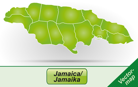 black maria: Map of Jamaica with borders in green