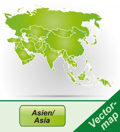 yerevan: Map of Asia with borders in green