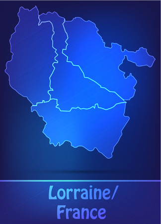 Map of lorraine with borders as scrible