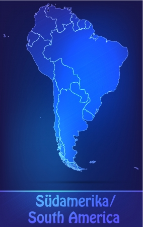 georgetown: Map of South America with borders as scrible