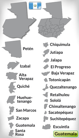 guatemala: Map of Guatemala with borders in gray