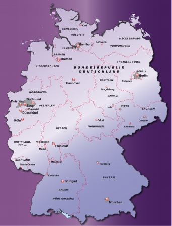 cartographer: Map of Germany as an overview map in violet