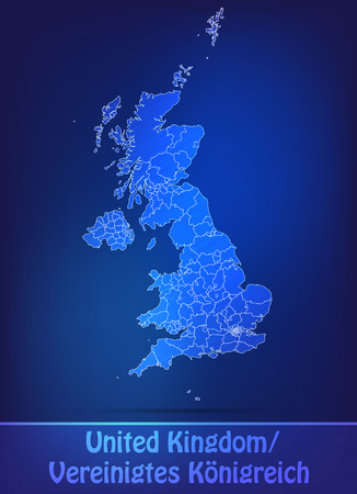 Map of England with borders as scrible Stock Photo