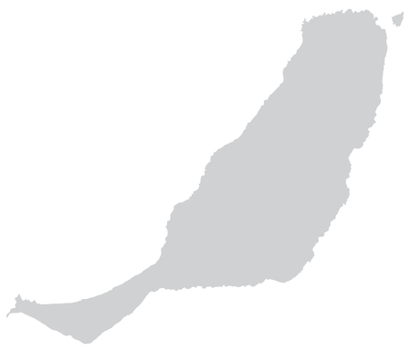 Map of fuerteventura with borders in gray photo