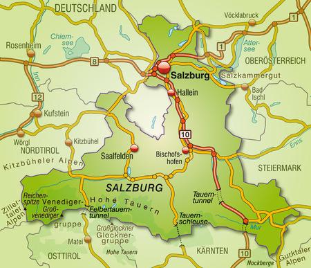 saalfelden: Map of salzburg with highways