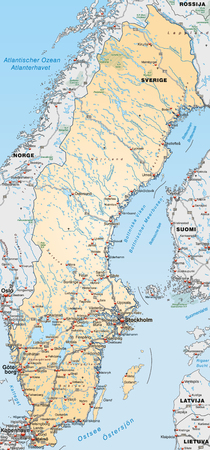 Highway Stretch Stock Illustrations Cliparts And Royalty Free - Sweden highway map